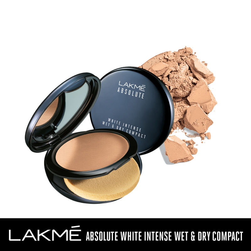 Lakme Absolute White Intense Wet & Dry Compact - Almond Honey 06