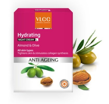 VLCC Anti-Ageing Hydrating Night Cream With Almond & Olive
