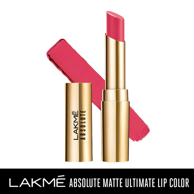 Lakme Absolute Matte Ultimate Lip Color with Argan Oil - Rose Pink