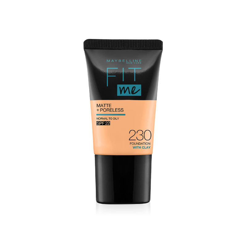 Maybelline New York Fit Me Matte+Poreless Foundation Tube - 230 With Clay