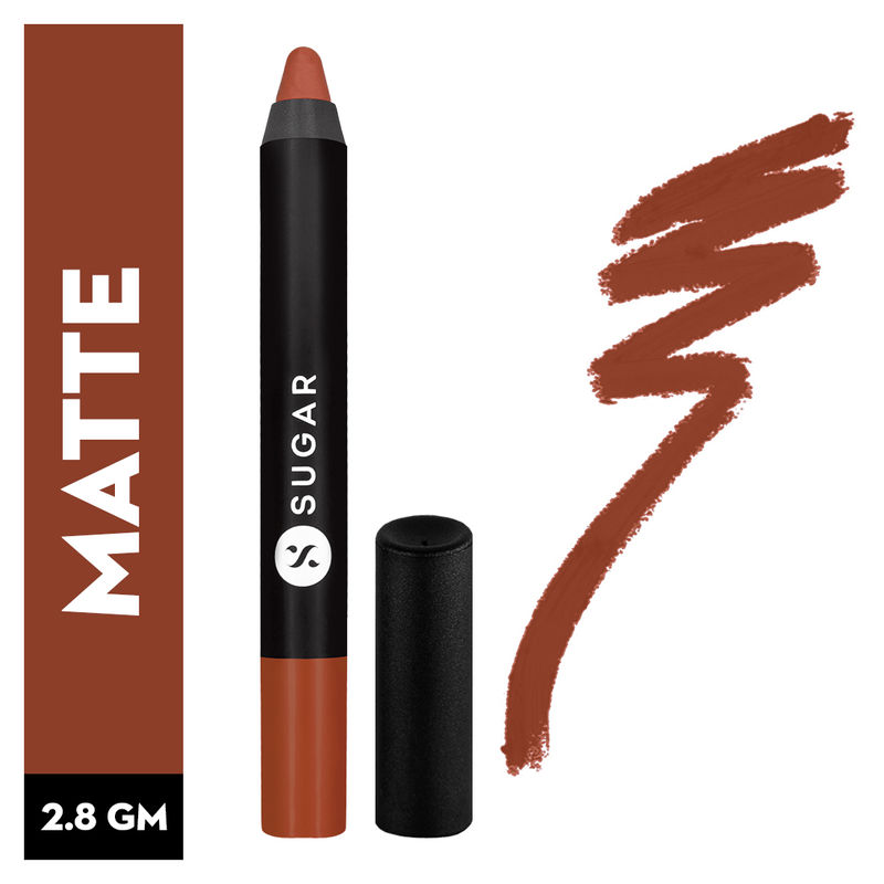 SUGAR Matte As Hell Crayon Lipstick With Free Sharpener - 16 Claire Underwood