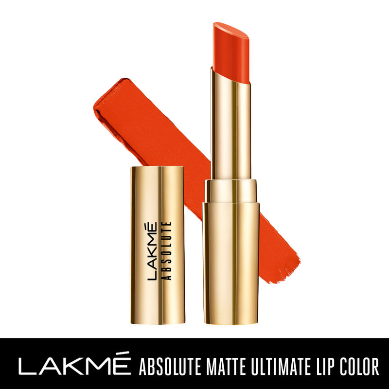 Lakme Absolute Matte Ultimate Lip Color with Argan Oil - Orange Country