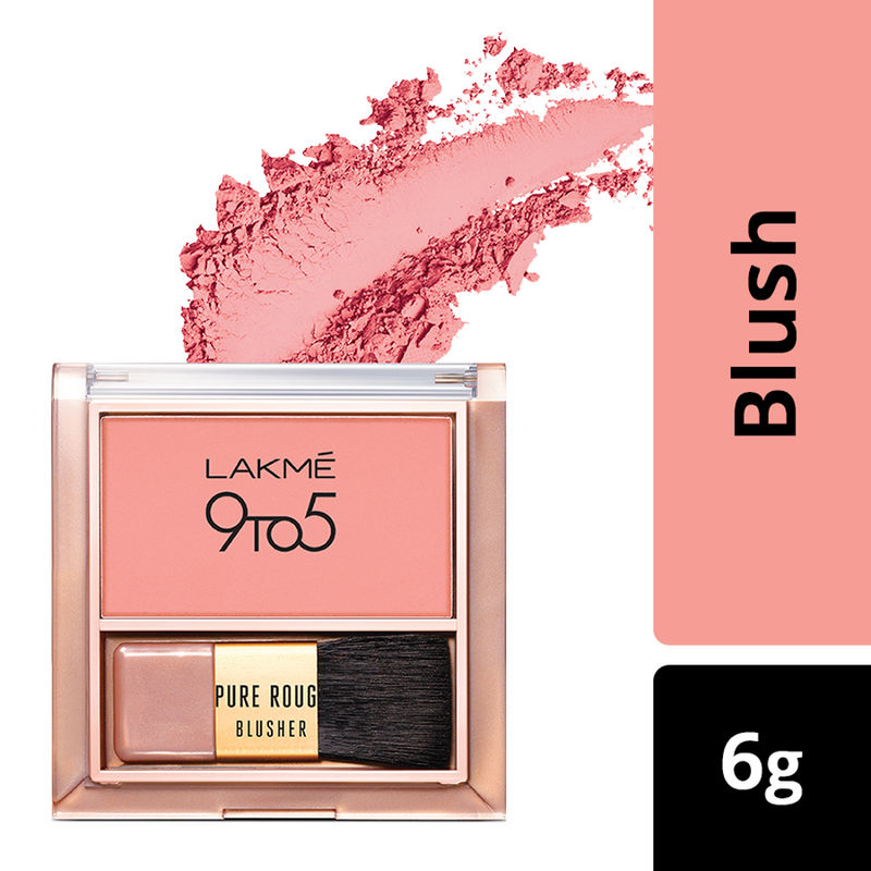 Lakme 9 To 5 Pure Rouge Blusher - Nude Flush