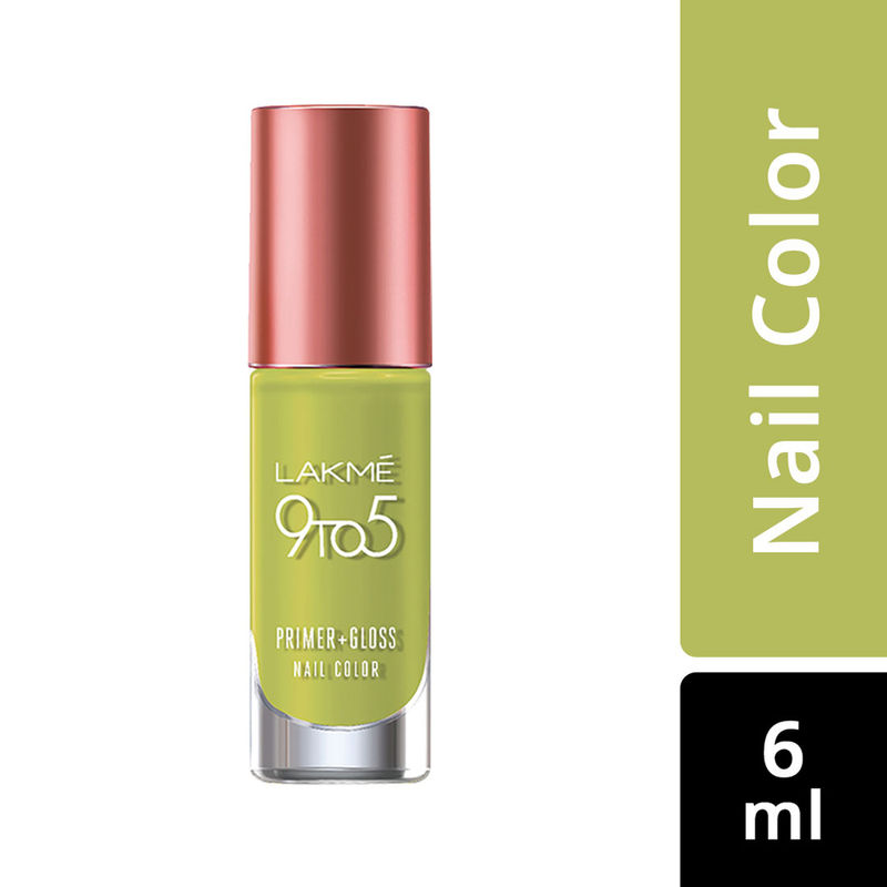 Lakme 9 to 5 Primer + Gloss Nail Color - Lime Treat