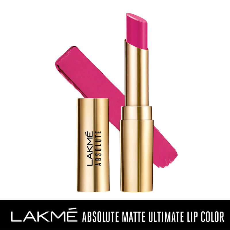Lakme Absolute Matte Ultimate Lip Color with Argan Oil - 205 Orchid Pink