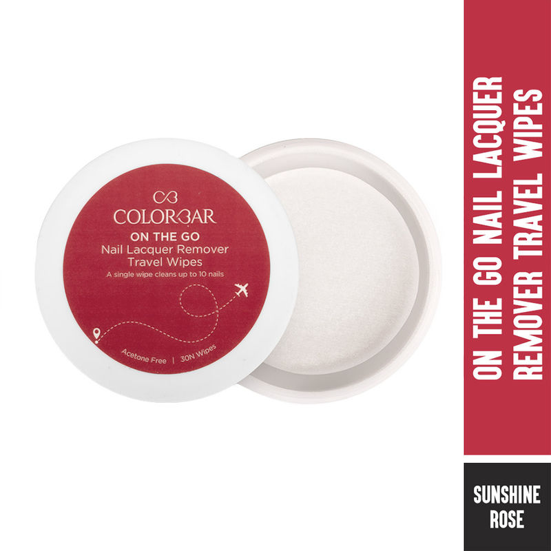 Colorbar On The Go Nail Lacquer Remover Wipes - Sunshine Rose