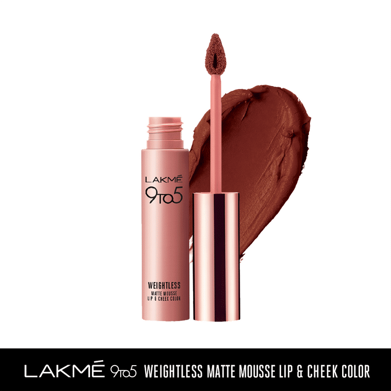 Lakme 9 to 5 Weightless Matte Mousse Lip & Cheek Color - Chocolate Mousse