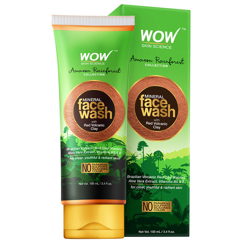 WOW Amazon Rainforest Collection - Mineral Face Wash with Red Volcanic Clay
